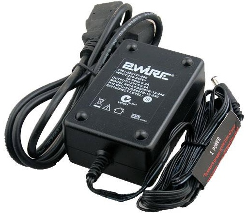 2WIRE ACDS007B-12-240 AC ADAPTER 12VDC 0.6A DESKTOP POWER SUPPLY