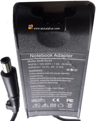 65W-DL04 AC ADAPTER 19.5VDC 3.34A DA-PA12 DELL LAPTOP POWER