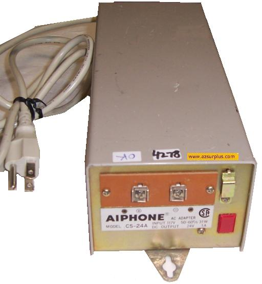 AIPHONE CS-24A AC ADAPTER 24V 1A SWITCHING POWER SUPPLY