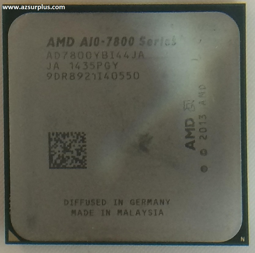 AMD A10 7800 3.5 GHz processor 720 MHz pulled from Working Comp
