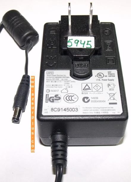 APD WA-10H05 AC ADAPTER 5V 2A PLUG IN POWER SUPPLY