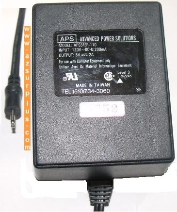 APS APS57ER-110 AC ADAPTER 5Vdc 2A STEREO Power supply CLASS 2 T