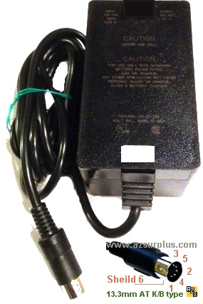 AULT 7612-305-4B9E AC ADAPTER +5VDC 1A 12V 0.25A USED 5PIN 13mm