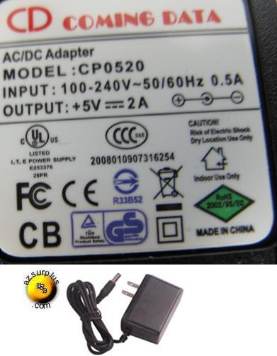 CD COMING DATA CP0520 AC ADAPTER 5VDC 2A POWER SUPPLY
