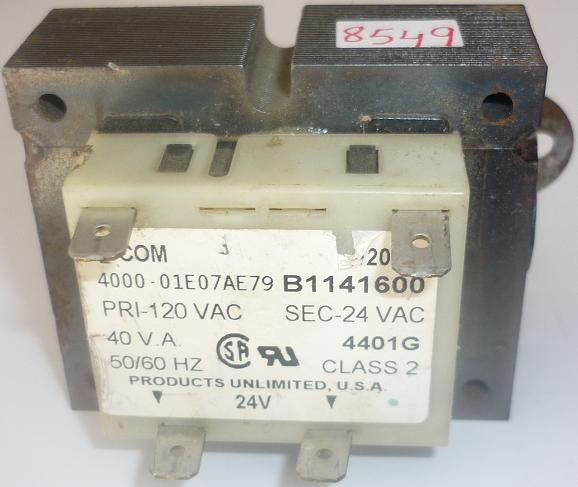 COM B1141600 TRANSFORMER USED 120V 24VAC FURNANCE REPLACEMENT PO
