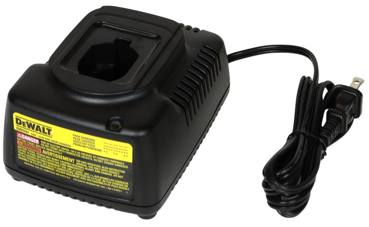 DEWALT DW9107 ONE HOUR BATTERY CHARGER 7.2V-14.4V USED 2.8AMPS