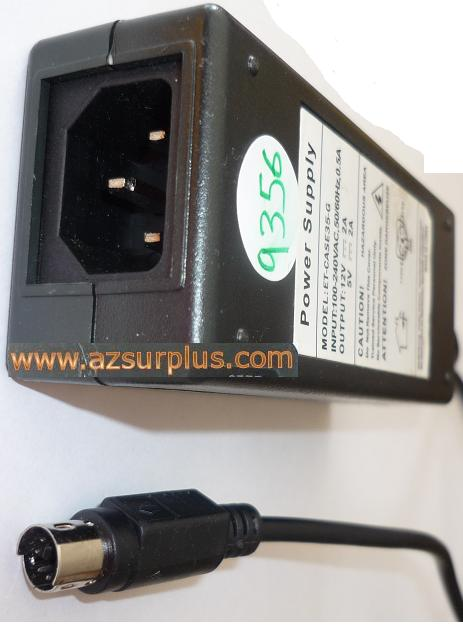 ET-CASE35-G AC ADAPTER 12V 5VDC 2A USED 6PIN DIN ITE POWER SUPPL