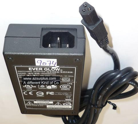 EVER GLOW WDS060240 AC ADAPTER 24VDC 2.5A USED 3PIN ITE POWER SU