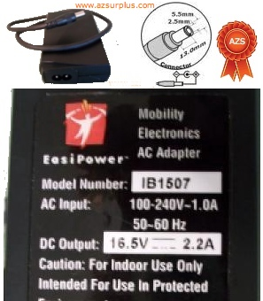 EasyPower IB1507 AC Adapter 16.5Vdc 2.2A Used Power Supply Mobil