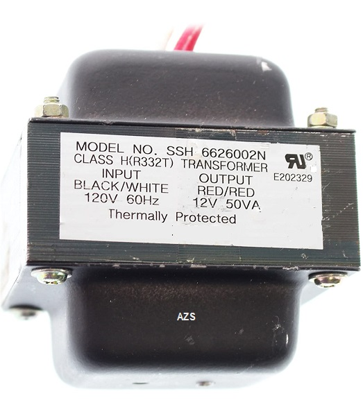 Elco Lighting SSH-6626002N Transformer 12VAC 50VA, 120V-IN 60Hz