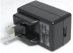 Belkin F8Z009xPBL-BLK AC ADAPTER 5VDC 500mA USED USB CHARGER