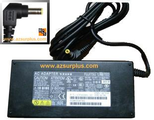 Fujitsu FMV-AC316 AC Adapter 19Vdc 6.32A Used Center +ve 2.5 x 5