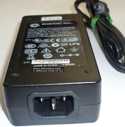 GLOBTEK GT-21097-5012 AC ADAPTER 12VDC 4.17A 50W USED -(+) 2.5x5