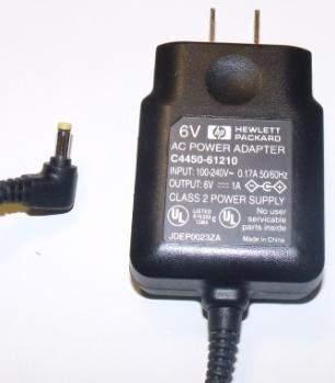 HEWLETT PACKARD C4450-61210 AC ADAPTER 6V 1A USED