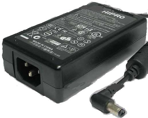 HIPRO HP-O2040D43 AC ADAPTER 12VDC 3.33A 40W -(+)- 2.5x5.5mm POW