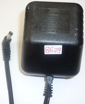 IRWIN APX541863 AC ADAPTER 16.5VAC 15VA USED ~(~) 2.3x5.5x11.9mm