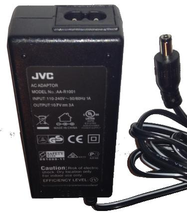 JVC AA-R1001 AC ADAPTER 10.7VDC 3A Used -(+)- 2.5x5.5mm 110-240V