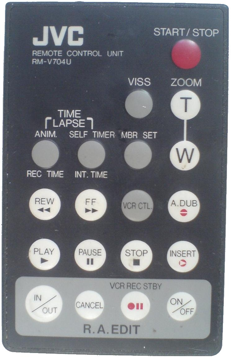JVC RM-V704Uinfrared Remote Control 19 Buttons Used for CAMCORDE