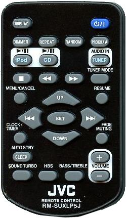 JVC RM-SUXLP5J infrared PORTABLE DVD Remote Control 28 Buttons