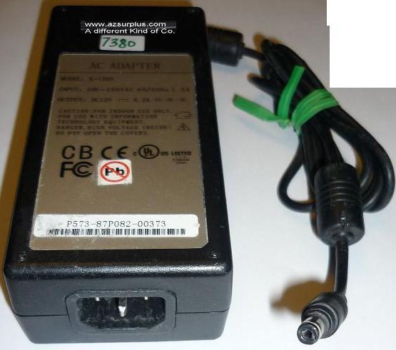 K-1205 AC ADAPTER 12VDC 4.2A -(+) 2x5.5x9.5mm Round Barrel USED