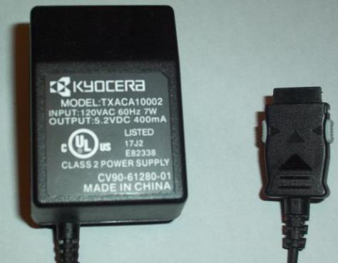 KYOCERA TXACA10002 AC DC ADAPTER 5.2V 400mA 7W POWER SUPPLY FOR