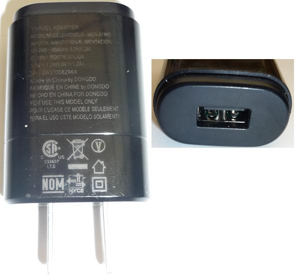 LG MCS-01WD AC ADAPTER 5V 1.2A USED USB TRAVEL CHARGER CELLPHONE