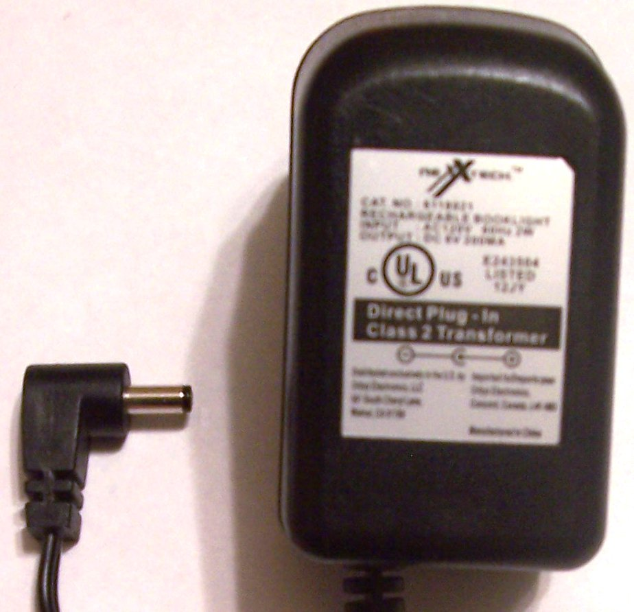 NEXXTECH 6118921 AC ADAPTER 6VDC 200mA POWER SUPPLY Booklight