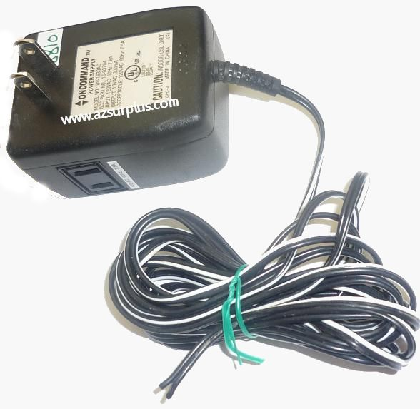 ONCOMMAND DV-1630AC AC ADAPTER 16VAC 300mA USED CUT WIRE DIRECT