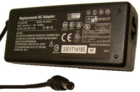 Replacement PA-1650-01 AC ADAPTER 19VDC 3.4A POTRANS UP06511190