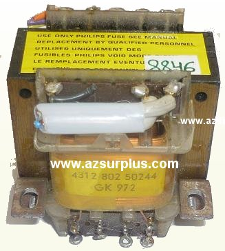 PHILIPS 4312 802 50244 TRANSFORMER USED GK 972
