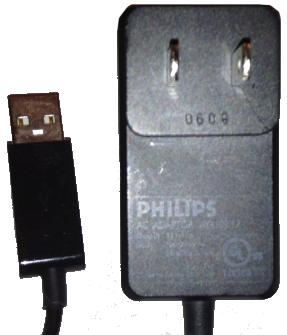 PHILIPS AY4109/17 AC ADAPTER 5V DC 1A USED MP3 PLAYER CONNECTOR