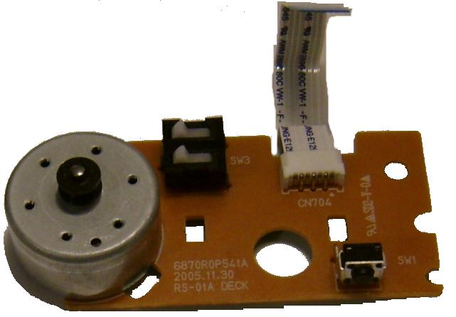 EJECT Motor 6870R0P541A RS-01A DECK FOR PHILIPS LG LRA-760 SUPER