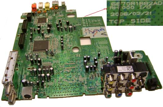 PHILIPS LG 6870R1882AD Main Board BARE PCB FOR SUPER MULTI DVD