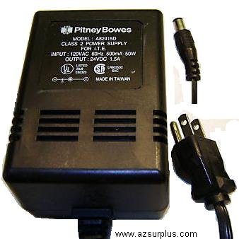 PITNEY BOWES A82415D AC ADAPTER 24VDC 1.5mA Power Supply