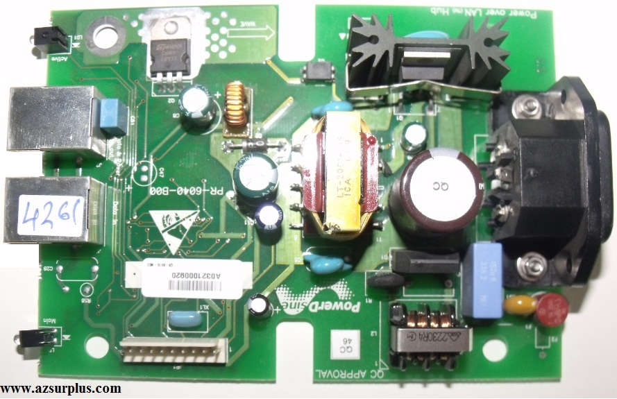 Power Design PR-6040-B00 Power over LAN Hub POWER SUPPLY Single
