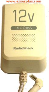 RADIOSHACK 273-1779 AC ADAPTER 12VDC 1500mA POWER SUPPLY WALLMOU