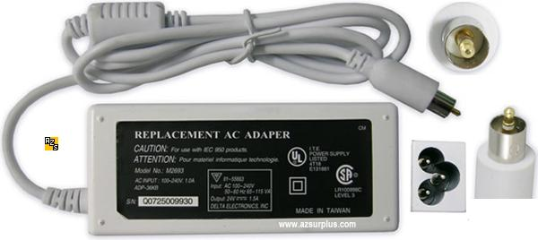 Replacement A1012 AC Adapter 24V 2.65A G4 for Apple iBook PowerB