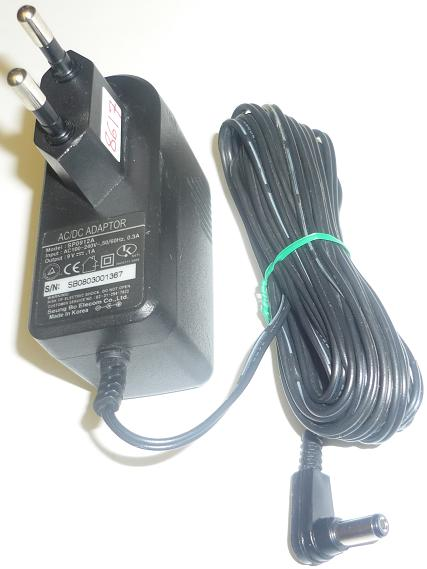 SEUNG BO SP0912A AC ADAPTER 9VDC .1A USED -(+) 2x5.5mm EUROPE PL
