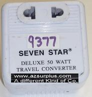 SEVEN STAR SS 214 STEP-UP REVERSE CONVERTER USED DELUXE 50 WATTS