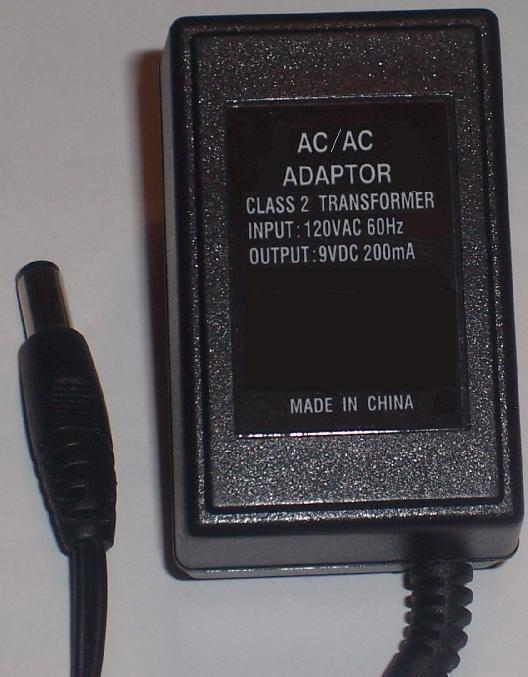 TA-28-090200 AC ADAPTER 9VAC 100mA Wallmount CLASS 2 TRANSFORMER