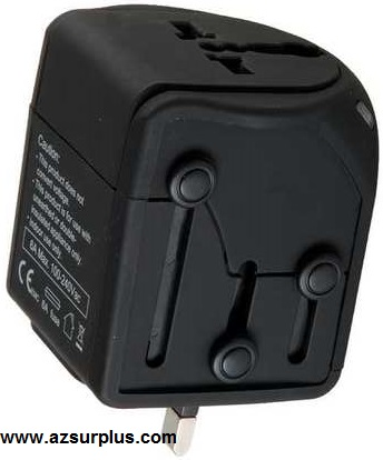 UNIVERSAL Plug Travel Adaptor Voltage 110-240VAC Watts 660-1320