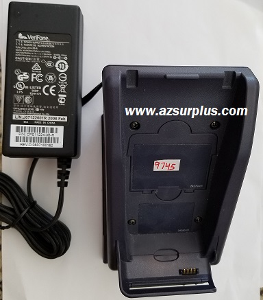 VERIFONE VX670-B BASE CRADDLE CHARGER 12VDC 2A USED WiFi Credit
