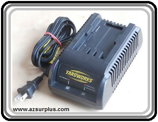 YARDWORKS 24990 AC ADAPTER 24VDC 1.8A BATTERY CHARGER USED POWER