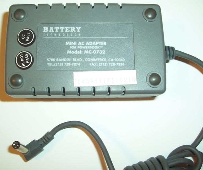 BATTERY MC-0732 AC ADAPTER 7.5V dc 3.2A -(+) 2x5.5mm 90° 100-240