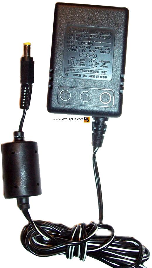 CANON PA-10A AC ADAPTER 9.5VDC 300mA FOR CanoScan N340P/N640P