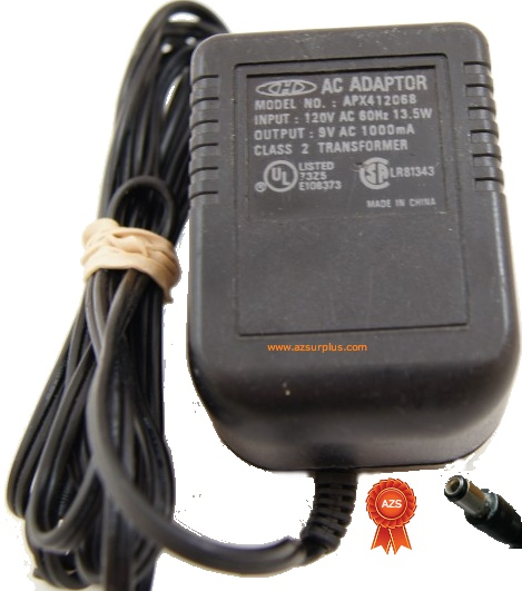 CHD APX412068 AC Adapter 9Vac 1A Used Power Supply USA / Canada