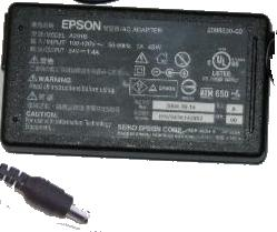 EPSON A291B AC ADAPTER 24VDC 1.4A 1x4x6xmm ROUND BARREL WITH PIN