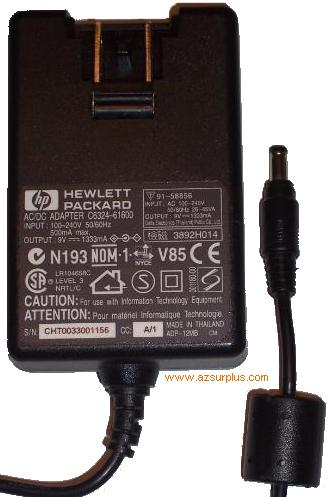 HP C6324-61600 AC DC ADAPTER 9V 1333MA PHOTOSMART POWER SUPPLY