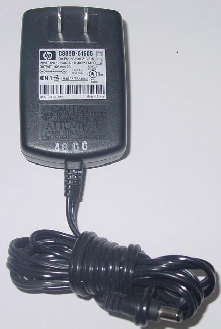 HP C8890-61605 AC ADAPTER 6VDC 2A POWER SUPPLY PHOTOSMART 210