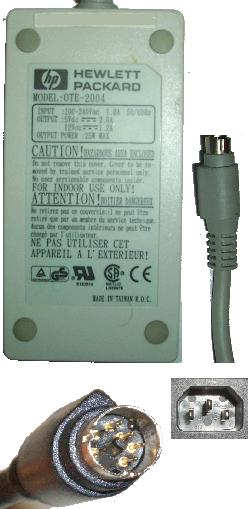 HP OTE-2004 AC ADAPTER 12V 2A 5V DC 5Pin Mini Din POWER SUPPLY
